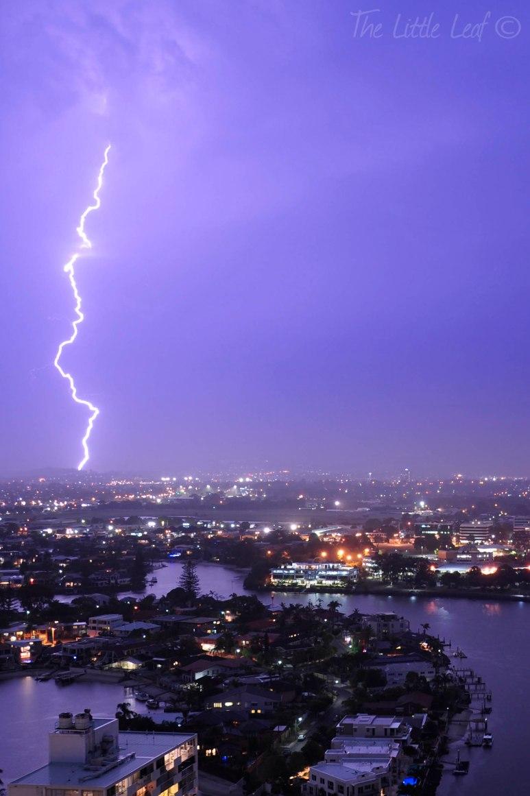 Lightning in Queensland